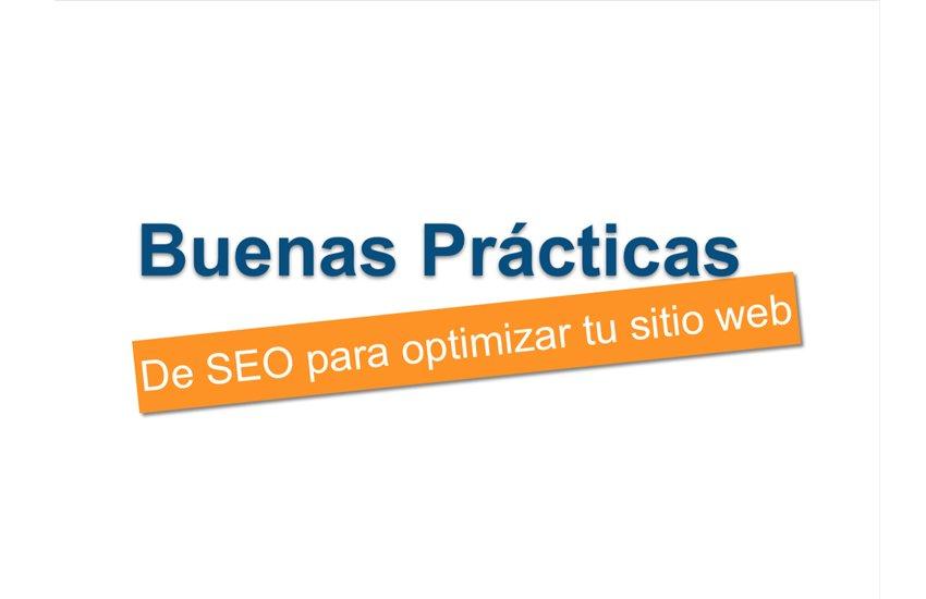 Portada Presentación Buenas Prácticas de SEO para optimizar tu sitio web