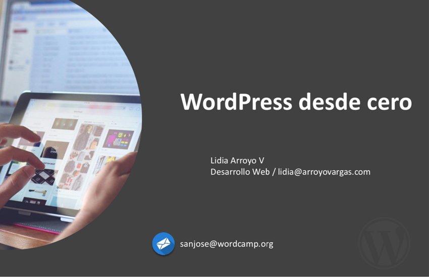 Portada Web Presentación WordPress desde cero