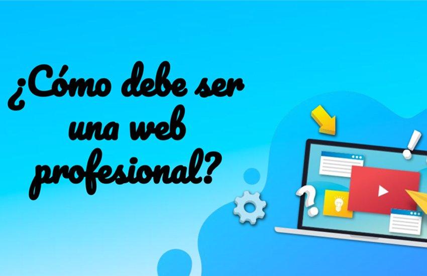 Portada presentación ¿Cómo debe ser una web profesional?