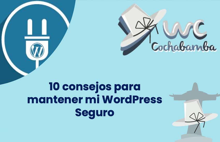 Portada Presentación 10 consejos para mantener mi WordPress Seguro